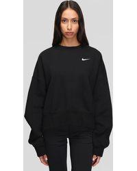 Nike Essential Fleece Crew - Black
