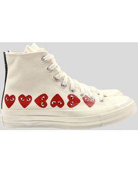 COMME DES GARÇONS PLAY X Converse Chuck Taylor Multi Heart 1970s High-top Trainers - White