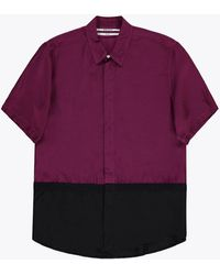 Robert Geller - The Two-toned Taped Ss Shirt - Lyst