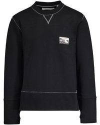 Lhomme Rouge Patch Sweater - Black