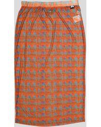 Stussy Printed Plaid Mesh Tube Skirt - Red