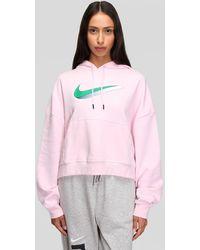 Nike W Icon Clash Fleece Hoodie - Pink