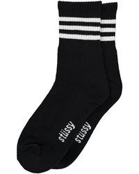 Stussy Clean Stripe Socks - Black