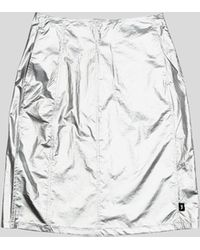 Stussy Shiny Panel Skirt - Metallic