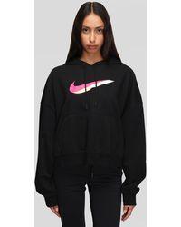 Nike W Icon Clash Fleece Hoodie - Black