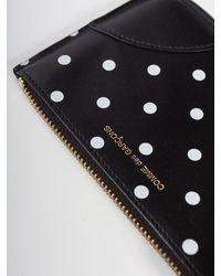 Comme des Garçons Sa8100pd Polka Dot Printed Wallet Black