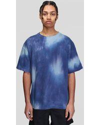 Schnayderman's Pique Tie Dye T-shirt - Blue