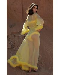 Rosamosario Peter Pan Love Long Robe - Yellow