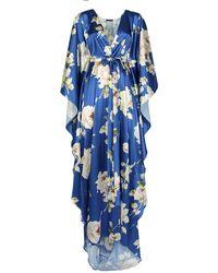 Rosamosario Financial Nights Long Robe - Blue