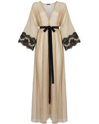 Rosamosario My Rosewood Nights Long Robe - Natural