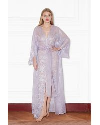 Rosamosario Lavander Fields Long Robe - Purple