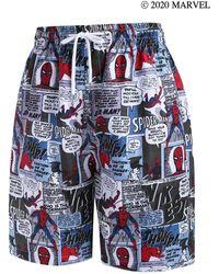 Rosegal - Marvel Spider-man Comics Pattern Shorts - Lyst