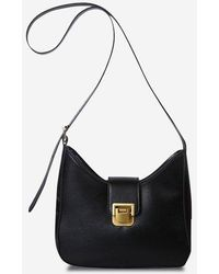 Rosegal Solid Buckle Strap Shoulder Bag - Black