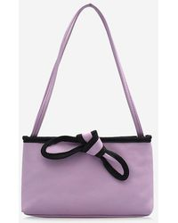 Rosegal Bowknot Design Pu Leather Tote Bag - Purple