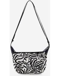 Rosegal Zebra Stripes Pattern Casual Shoulder Bag - Multicolor