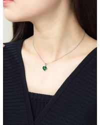 Rosegal Heart Shaped Zircon Inlaid Necklace - Multicolor