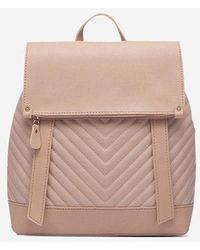 Rosegal Flap Chevron Quilted Spliced Backpack - Multicolor