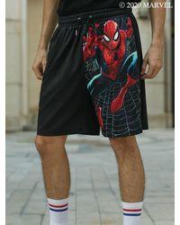 Rosegal - Marvel Spider-man Graphic Shorts - Lyst