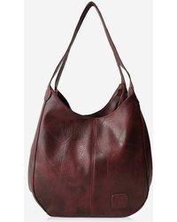 Rosegal - Vintage Solid Color Pu Shoulder Bag - Lyst