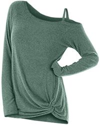 Rosegal - Knotted Skew Neck Sweater - Lyst
