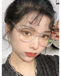 Rosegal Square Frame Double Nose Bridge Glasses - Gray