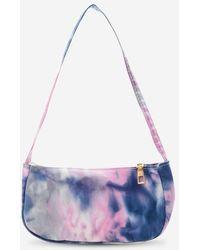Rosegal Cloud Print Mini Shoulder Bag - Purple