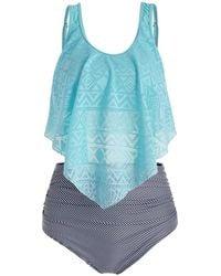CALZEDONIA Womens Noemi Perforated Pattern Swimsuit