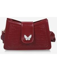 Rosegal Solid Textured Butterfly Pattern Crossbody Bag