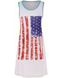Rosegal - American Flag Sleeveless Mini Tank Dress - Lyst