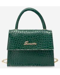 Rosegal Chain Letters Pattern Cover Handbag - Green