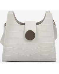 Rosegal Embossed Square Shoulder Bag - Multicolor