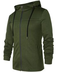 Rosegal - Front Pockets Zip Up Hoodie - Lyst