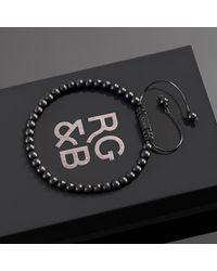 Rose Gold and Black Minimal Matte Agate Bead Bracelet - Multicolor