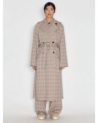 Rosetta Getty Double Breasted Trench Coat - Gray