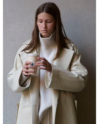 Rosetta Getty Belted Trench Coat - White