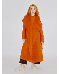Rosetta Getty Wrap Robe Coat - Orange