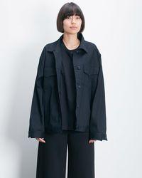 Roucha Obi Oversize Denim Jacket Th - Blue