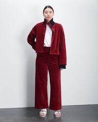 Roucha Orio Corduroy Two Part Coat - Red