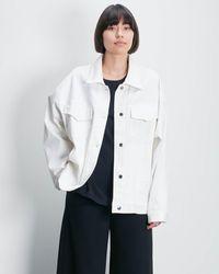 Roucha Obi Oversize Denim Jacket Th - White