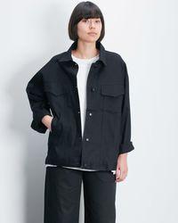 Roucha Obi Oversize Denim Jacket Th - Black