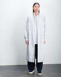 Roucha Oro Varsity Trench Coat - Gray