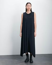 Roucha Dame Sleeveless Crewneck Jersey Dress - Black
