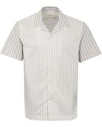 WOOD WOOD Brandon Ss Stripe Shirt White