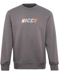 Nicce London Myriad Crewneck Steel - Grey