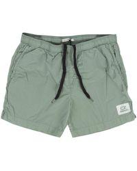 C P Company - Patch Logo Swim Shorts Mint - Lyst