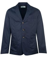 Universal Works London Twill Blazer Navy - Blue