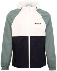 Nicce London Aston Zip Through Hooded Jacket White