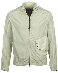 C P Company - Goggle Hood Chrome Jacket Mint - Lyst