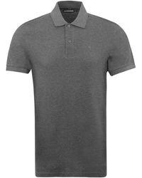 J.Lindeberg Troy Pique Polo Shirt Charcoal - Grey
