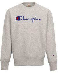 Champion Big Script Crewneck Sweatshirt Grey